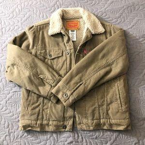 Levi/'s Big Boys Black M Full Zip Front Hooded Canvas Jacket $120 Size M 10-12Yrs